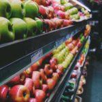 スーパーの果物売場